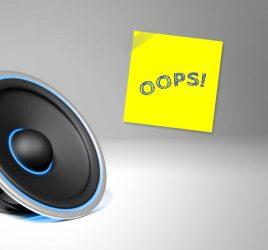 Speaker oops