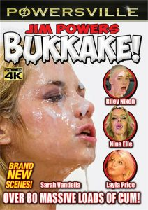 This is the box cover of Jim Powers' Bukkake
