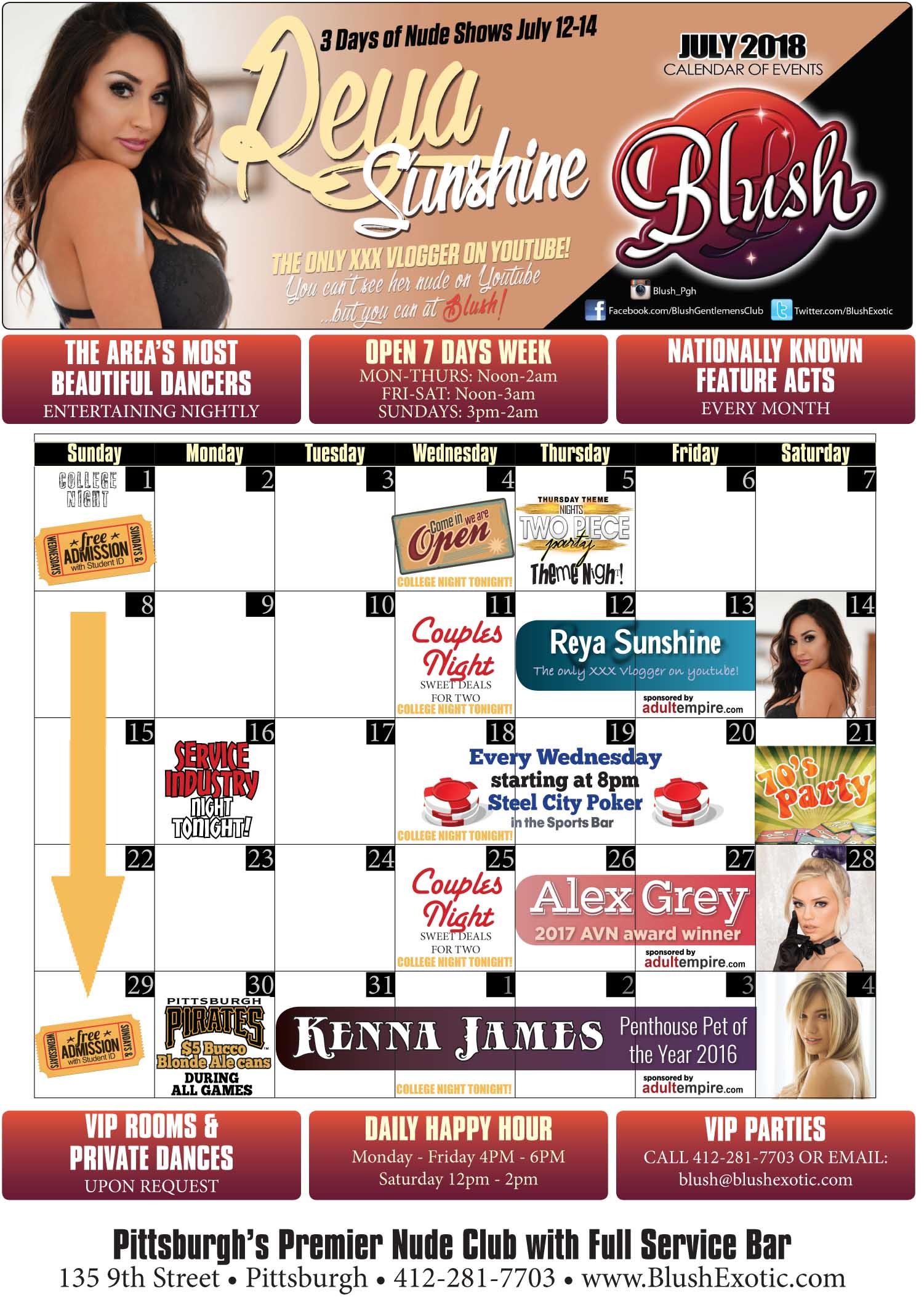 Blush Event Calendar