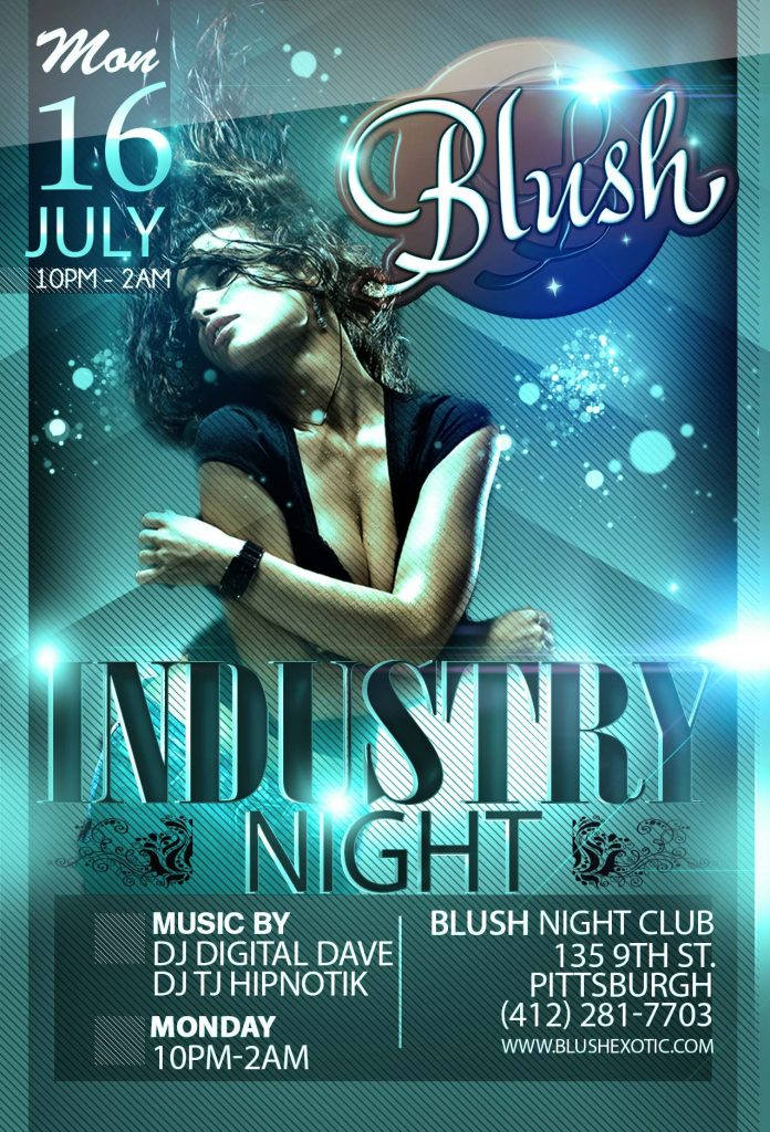 Service Industry Night Poster