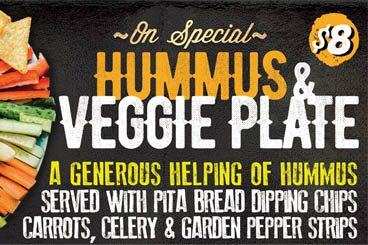 Hummus & Veggie Plate